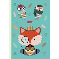 NOTEBOOK HIPSTER ANIMAL FOX