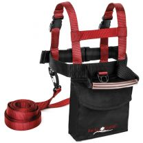 LUCKY BUMS SKI TRAINER W/ PACK & HARNESS RED