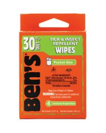 BEN'S 30 WIPES 4 PIECE TRAVEL PACK