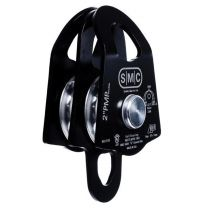 "SMC 2"" PMP DOUBLE PULLEY COLOR BLACK"