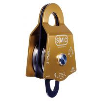 "SMC 3"" PRUSIK MINDING DOUBLE PULLEY COLOR GOLD"