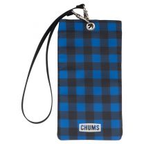 PHONE SWEATER BLACK AND BLUE PLAID