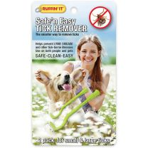 SAFE 'N EASY TICK REMOVER 2PK