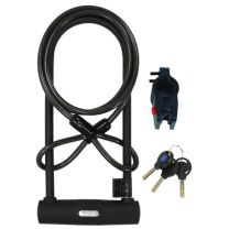 290MM U LOCK AND CABLE COMBO